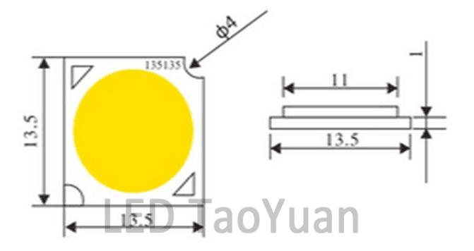 COB LED 13.5MM - Click Image to Close