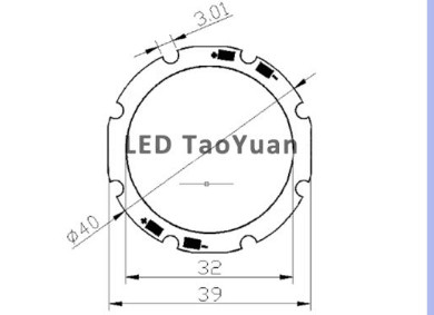 LED COB Φ40/32mm - Click Image to Close