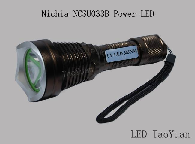 High power UV LED flashlight 5W