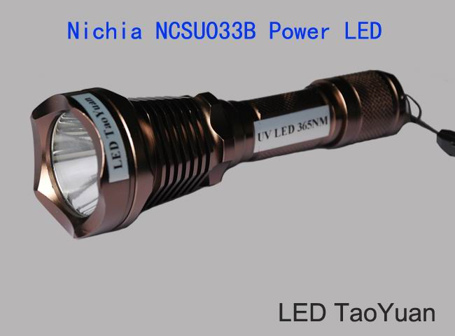 UV LED flashlight Wholesale 365nm 3W