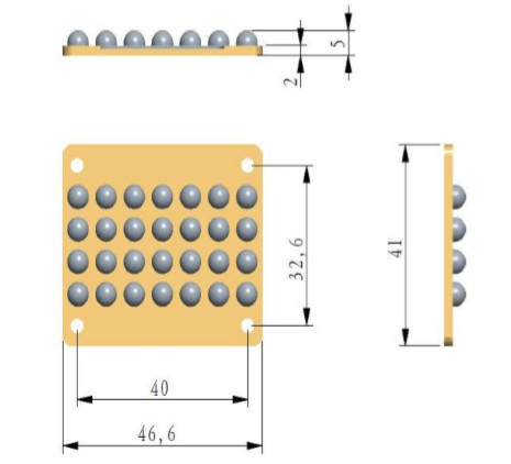 High Power UV LED COB 385395nm 400W-A - Click Image to Close