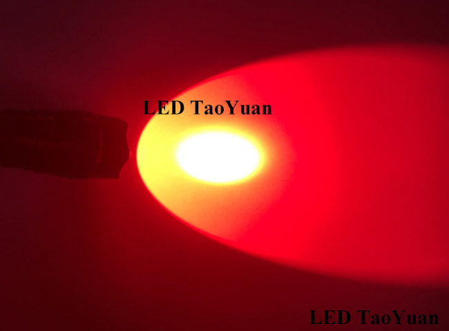 Red LED Flashlight 3W - Click Image to Close