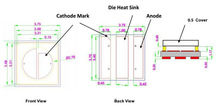 SMD UVC LED 3535 275nm-A - Click Image to Close
