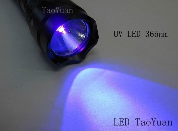 UV Torch TOP 365nm 3W - Click Image to Close
