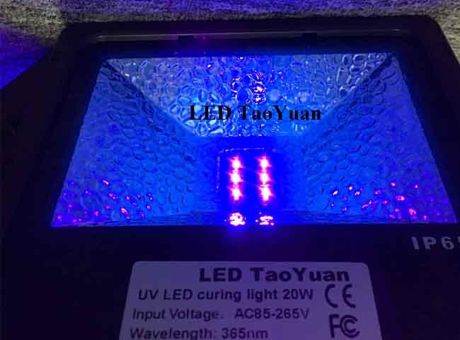 UV LED Lamp 365nm 20W 4200mW - Click Image to Close